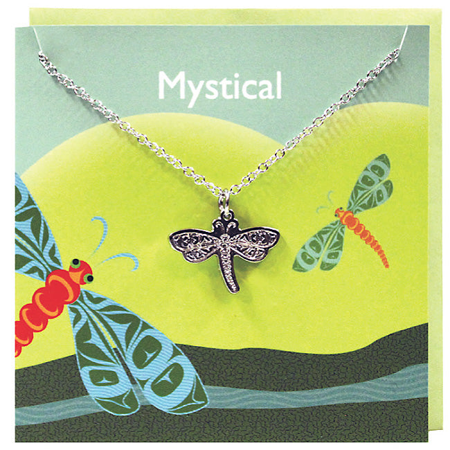 Art charm stainless steel necklace with card - Mystical