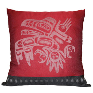 "Native Home Decorative Pillow Cover - ""Running Raven"" by Morgan Asoyuf"