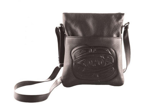 Raven Embossed Solo Bag by Corrine Hunt