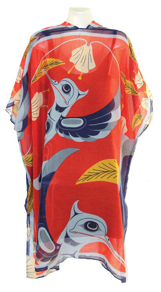 Cover-Up Kimono: Dance of the Hummingbirds