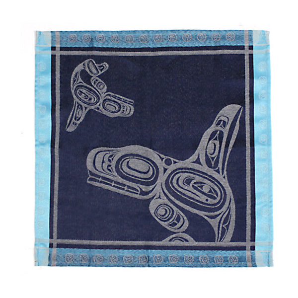 "Native Art 2-Piece Napkins Set - ""Whale"" by Ernest Swanson"