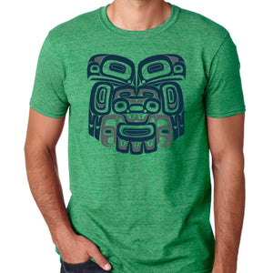 Ch'aak'(Eagle) Cotton T-Shirt by Alison Bremner
