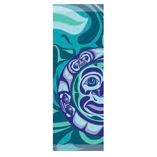 Frist Nation Art Printed Scarf - Moon