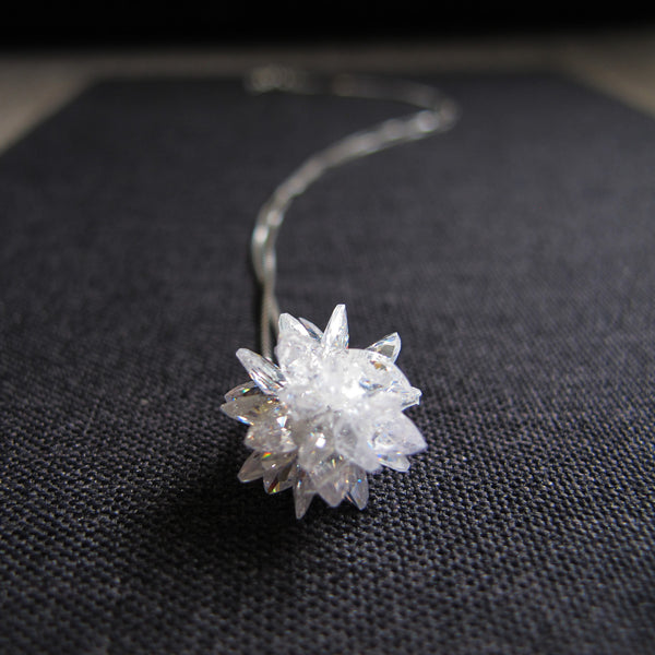 "Sparking Silver Necklace ""The North Star"""