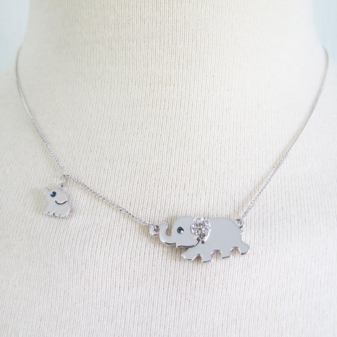 """Mom & Me"" Elephant Necklace"