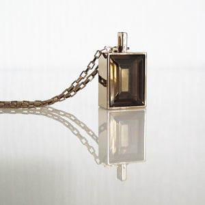 Architecture Inspired Cuboid Long Necklace (gold)