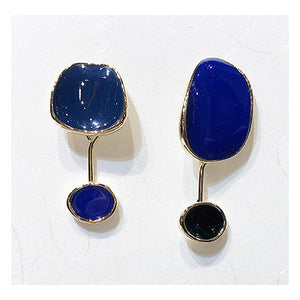 Free Shaped Enamel Drop Earrings