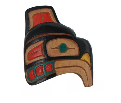Native Woodcarving Eagle Brooch