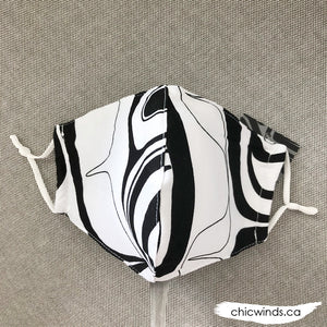 Eagle Cotton Face Mask Black/White