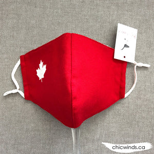 Maple leaf Cotton Face Mask Red