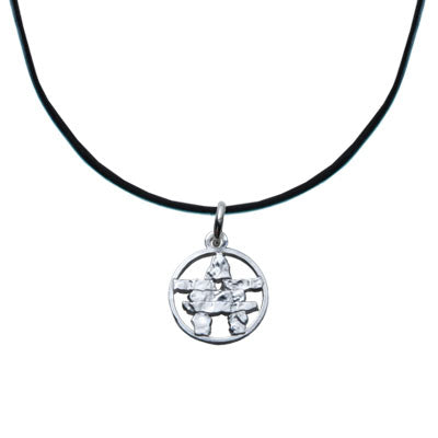Leather Necklace with Silver Pewter Charms