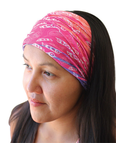 Multifunctional Headwear- Feathers