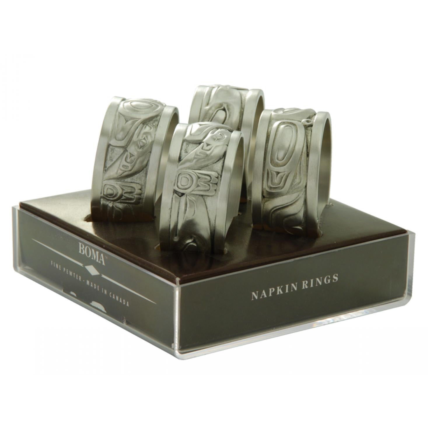 Native Pewter Napkin Rings (set of 4)