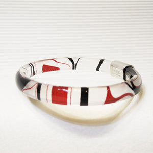 Kelly Robinson Silk Inspiration Bangle Red/Black
