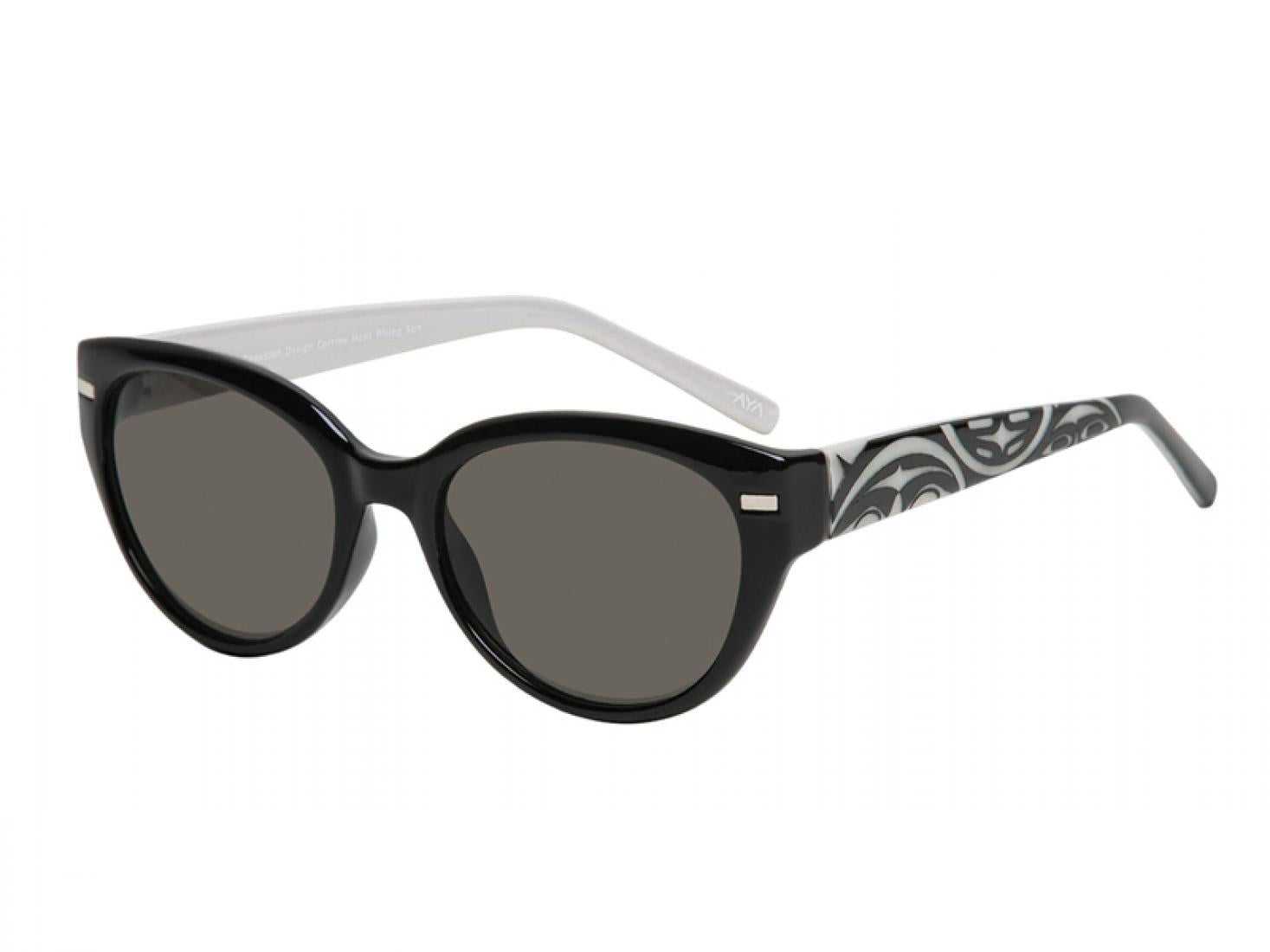 """Soleil"" Sunglasses with Rising Sun Design"