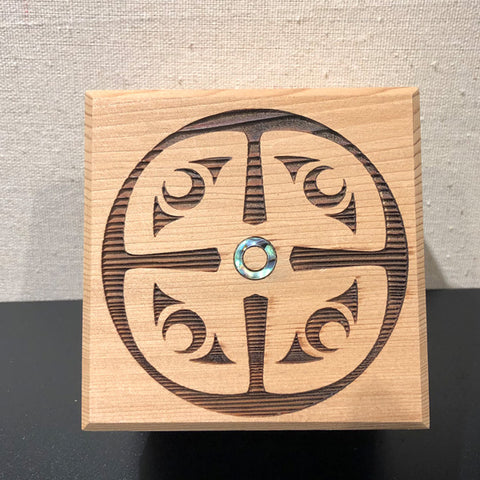 Bentwood Box - Four Corners Spindle Whorl