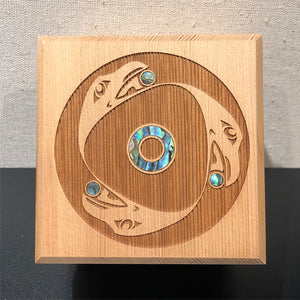 Bentwood Box - Raven Spindle Whorl