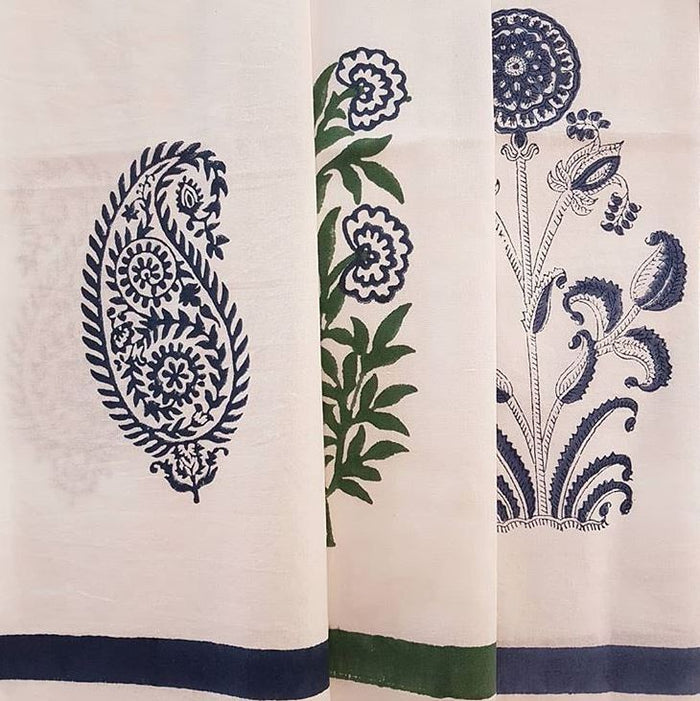 Hand Block Printed Sustainable Cotton Tea Towels