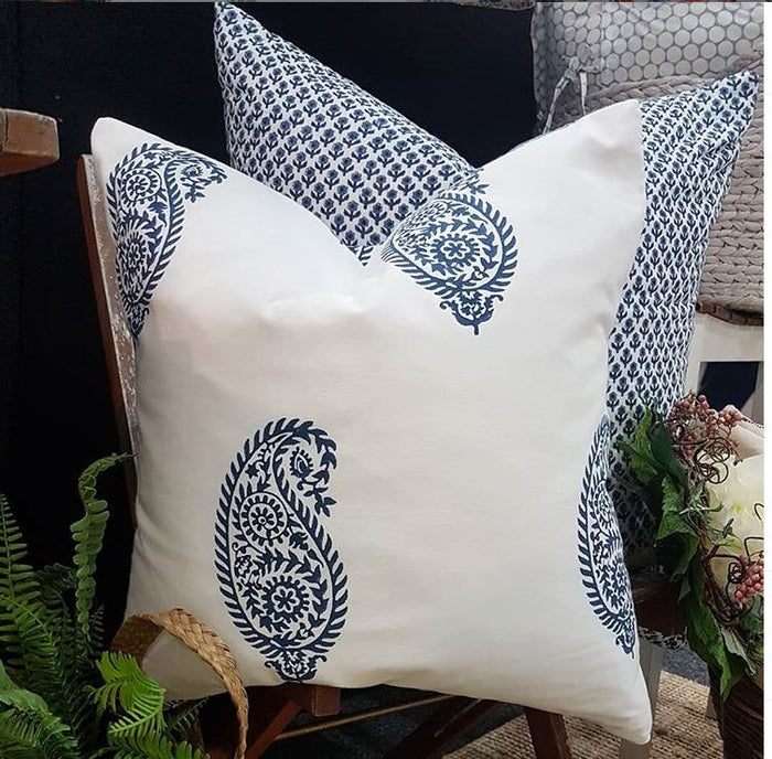 Hand Block Printed Cotton Floral Decorative Cushions