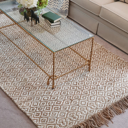 Natural Jute Rug - Diamond