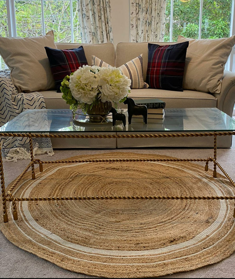 Natural Jute Rug - Hamptons Round