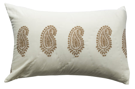 Kolka Beige Quilted Pillow Case Set