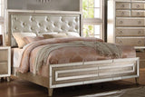 Acme Voeville Antique Gold Mirrored Bed