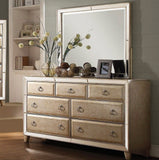 Acme Voeville Antique Gold Mirrored Bedroom Set - Dresser