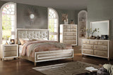 Acme Voeville Antique Gold Mirrored Bedroom Set