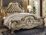 ACME Dresden Bone Gold Patina Bedroom Set - Bed