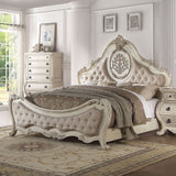 ACME Ragenardus Antique White Bedroom Set - Bed