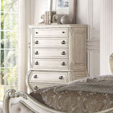 ACME Ragenardus Antique White Bedroom Set - Chest