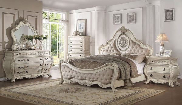 ACME Ragenardus Antique White Bedroom Set