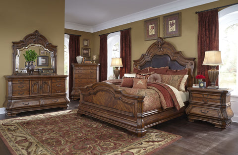AICO Tuscano Melange Mansion Bedroom Set