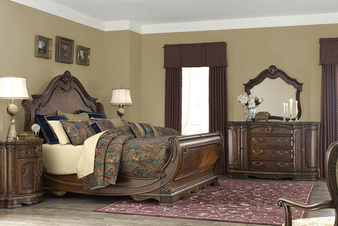 AICO BELLA VENETO SLEIGH BEDROOM SET