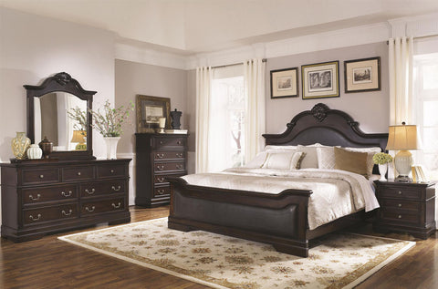 COASTER CAMBRIDGE UPHOLSTERED PANEL BEDROOM SET