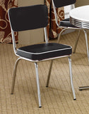 COASTER Cleveland Retro Chrome Dining Set - Chair