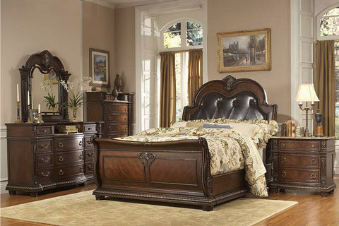 Palace Collection Sleigh Bedroom Set by Homelegance