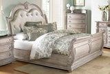 Palace II Collection Sleigh Bedroom Set in Whitewash - Bed