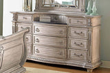 Palace II Collection Sleigh Bedroom Set in Whitewash - Dresser