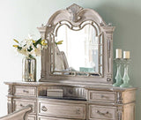 Palace II Collection Sleigh Bedroom Set in Whitewash - Mirror