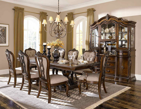 HOMELEGANCE Bonaventure Park Double Pedestal Dining Room Set