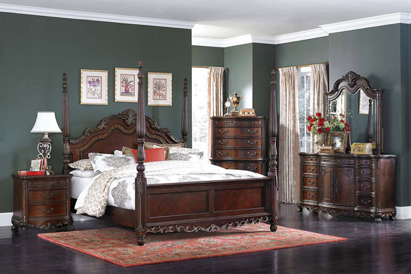 HOMELEGANCE Deryn Park Poster Bedroom Set