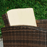 Outdoor Wicker Conversation Set - Wicker Detail
