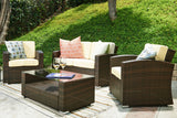 Outdoor Wicker Conversation Set