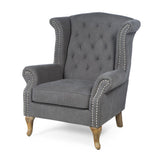 "BELMONT ""Madison"" Wing Back Upholstered Tufted Armchair"