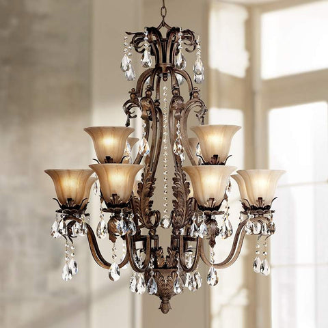ESSENCE HOME DECOR Bronze Chandelier