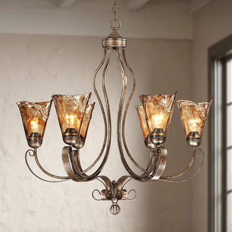 ESSENCE HOME DECOR Golden Bronze Chandelier