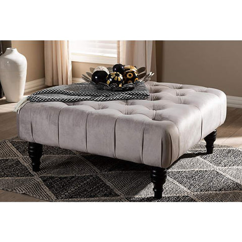 "BELMONT ""Karina"" Upholstered Tufted Cocktail Ottoman"