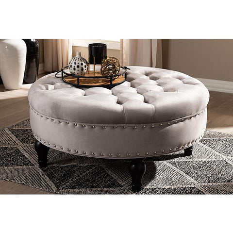 "BELMONT ""Pandora"" Upholstered Tufted Cocktail Ottoman"